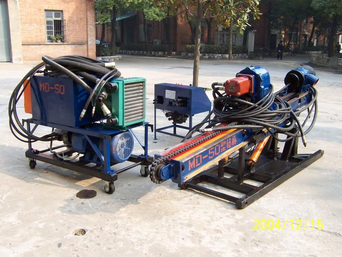 MD-50 Anchor Holes Skid Mounted Drilling Rig For Water Power Station