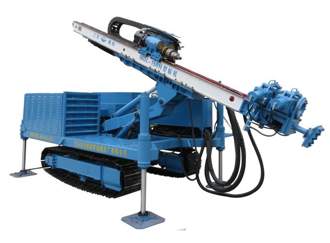 Rotary System Drilling Rig Construction , Hydraulic Crawler Drilling Machine MDL - 150H