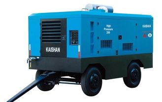 China Diesel Industrial Portable Air Compressor / Rock Drill Compressor Kaishan Lcgy supplier