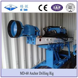 China Portable Auger Drilling Rig Borehole Stepless Shift  / DTH Hammer Drilling MD - 60 factory