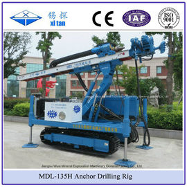 China High Hoist Rig Anchor Drilling Rig Crawler Mounted Multifunctional Drilling Machine MDL - 135H factory