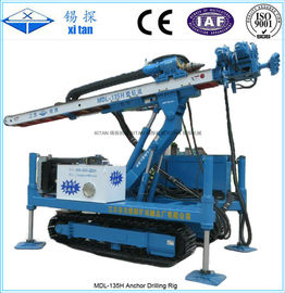 China High Hoist Crawler Mounted Multifunctional Anchor Drilling Rig MDL - 135H factory