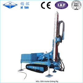 China Hydraulic Multifunctional High Lifting Anchor Drilling Rig with Crawler Chassis MDL - 150H factory