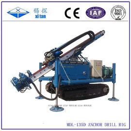 China Hydraulic Power Head Anchor Drilling Rig , Jet Grouting Drilling MDL - 135D factory