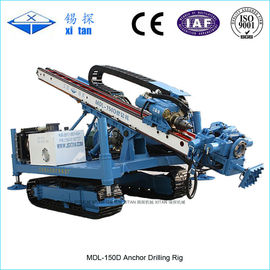 China Crawler Mounted Anchor Drilling Rig Rock Layers Casing pipe  Full Hydraulic MDL - 150D factory