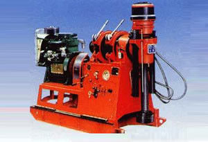 China GXY-2 Hydraulic Chuck Skid Mounted Drilling Rig With Anti-vibration Meter distributor