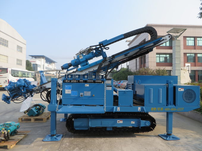 Big Torque Rotary Drilling Rig , High Rotary Speed Ground Drilling Machine Crawler Mounted MDL - C160